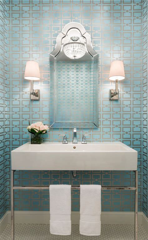 Wallpaper Bathroom Ideas by Traditional Transitional Coastal Interior Design Ideas