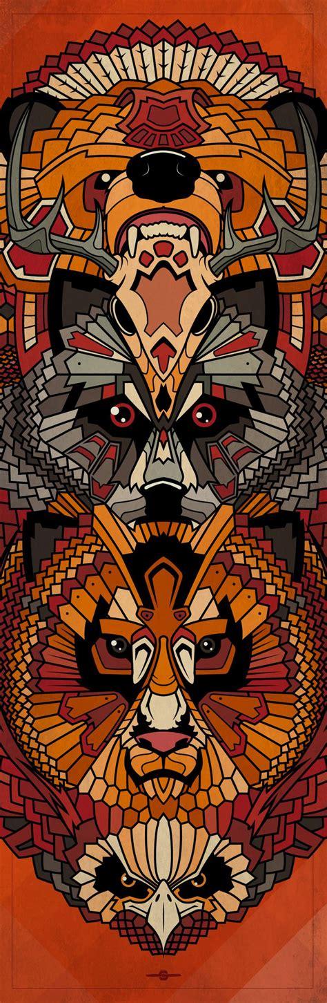 tattoo eagle totem animals totem illustration bear deer skull wolf lion
