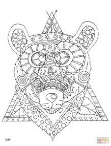 coloring pages of tribal pattern bear with tribal pattern coloring page free printable