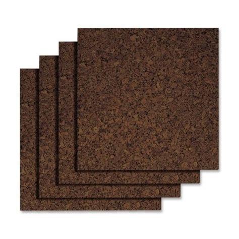 quartet cork tiles dark 12 inch x 12 inch frameless 4 pack 15050q ebay