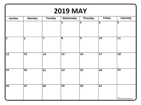 calendar word calendar printable
