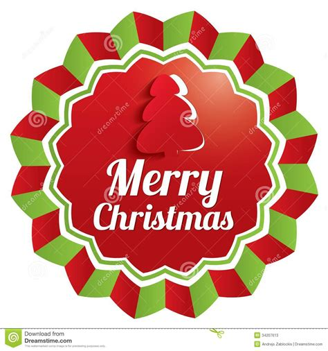 Label Sticker Merry merry greeting sticker label stock photos image 34207613