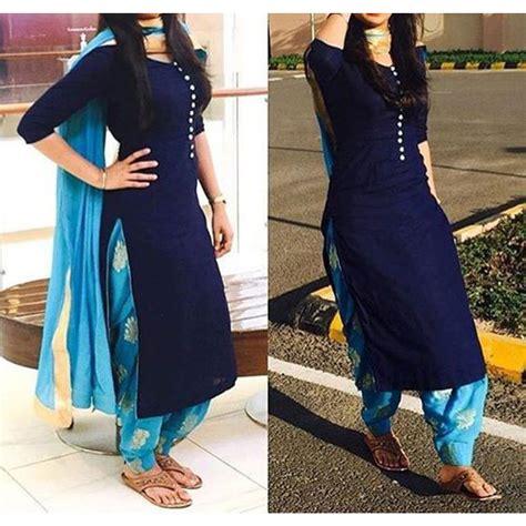 Dress Alif Blue cotton self design patiala suit dupatta material