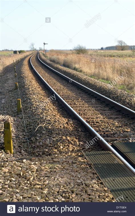 Railway Sleepers Norwich by Norwich To Great Yarmouth Railway Line Just Outside Acle