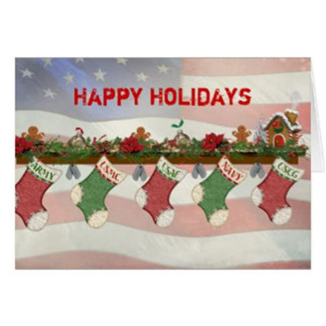 military christmas greeting cards zazzlecouk