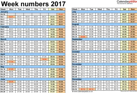 Calendar 2018 By Week Number Week Numbers 2017 With Uk Bank Holidays