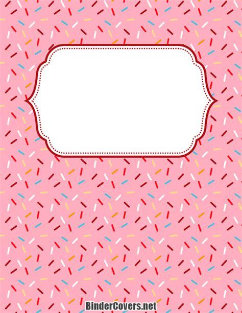 printable binder covers to colour printable sprinkles binder cover