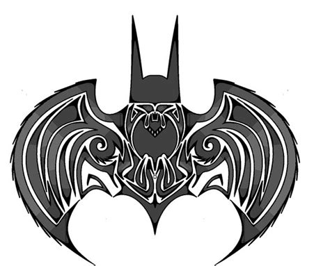 tattoo batman tribal tribal batman tattoo design tattooshunt com