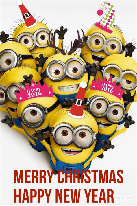 merry christmas   happy  year courtesy   minions funny minion pictures