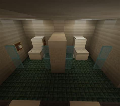 minecraft how to make bathroom modern public bathroom i know whatever i was bored