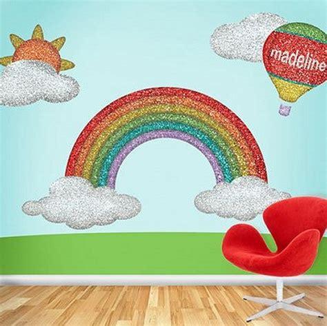 Decorating ideas rainbow decor rainbow wall murals rainbow wall