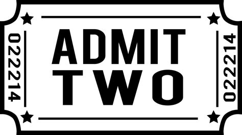 customize admit two ticket decal perfect for making ticket
