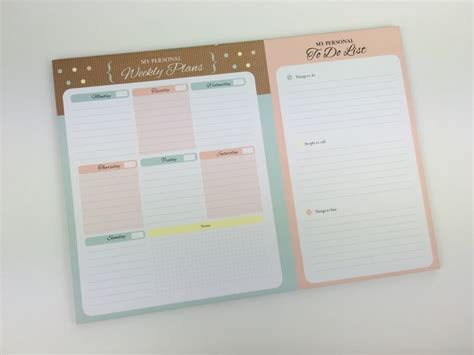 printable weekly planner notepad using a weekly planner notepad to plan the week 52
