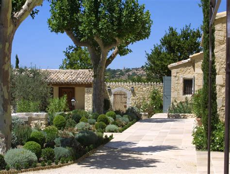 newly built newly built houses a provencal mas made of stone a