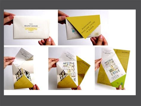 How To Fold A Paper Like A Brochure - 17 best images about creative folding brochures on