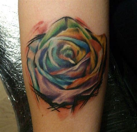 rainbow rose tattoo meaning rainbow by dan rainbow colour rosetattoo