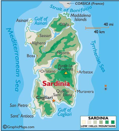 sardinia map sardinia adventure times