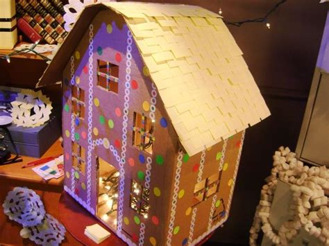 How To Make A Gingerbread House Out Of Paper - cardboard box gingerbread house gingerbreadman unit