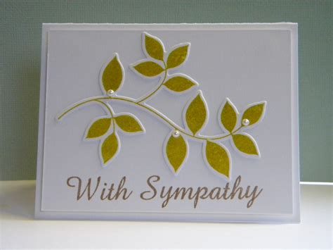 sympathy cards handmade sympathy card the handmade card