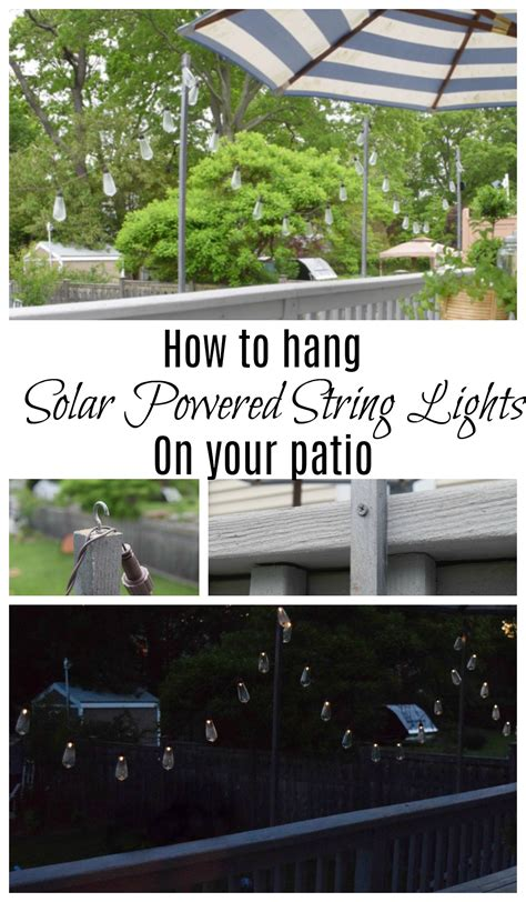 how to hang lights friday favorites starts with solar powered string lights
