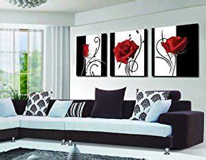 amazon home decor amazon com abstract art in black white red decorative