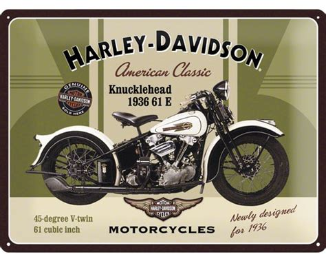 Motorrad Felgen Vergrößern by Blechschild Harley Davidson Knucklehead 30x40 Cm Bei