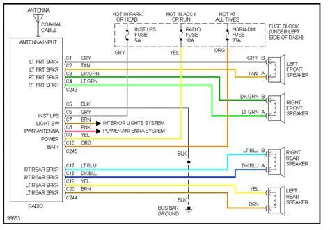 98 S10 Headlight Wiring Diagram