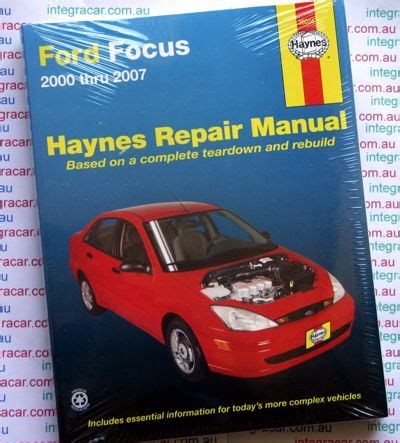 where to buy car manuals 2007 ford e series instrument cluster ford focus repair manual haynes 2000 2007 new sagin workshop car manuals repair books