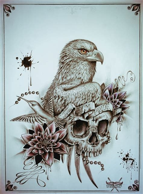 eagle tattoo designs tumblr eagle skull by edwardmiller on deviantart