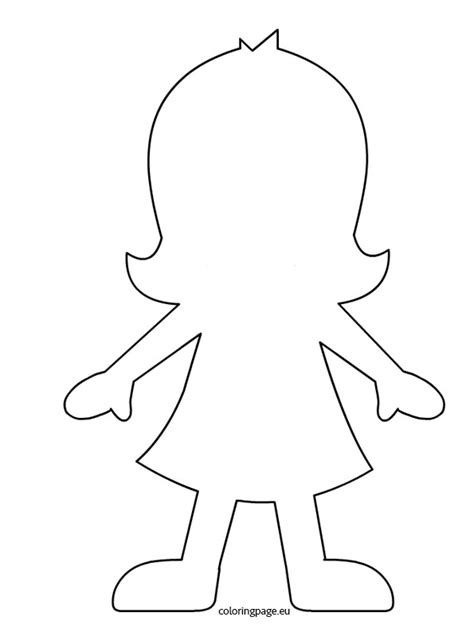 free coloring pages of girl template