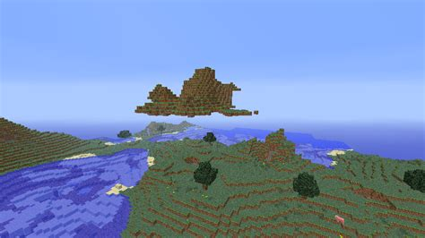 best seed floating islands biome and floating islands seed for