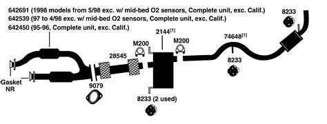 ford taurus exhaust system diagram wiring