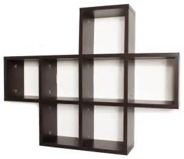 wall storage shelves cubby laminated walnut veneer shelving unit contemporary
