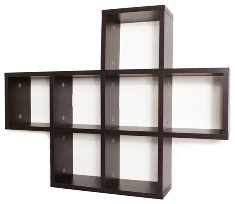 wall shelving cubby laminated walnut veneer shelving unit contemporary