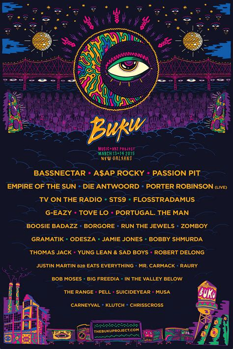 map of new orleans jazz fest buku project 2015 lineup w new poster and teaser trailer