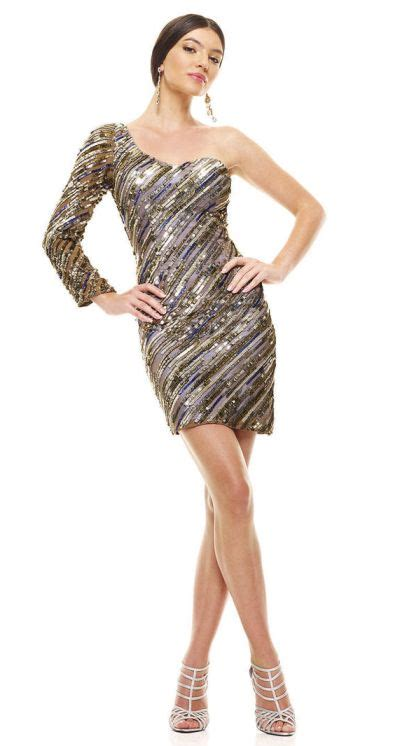 Mm Slkalla Dress scala 47558 sequin evening gown with one sleeve