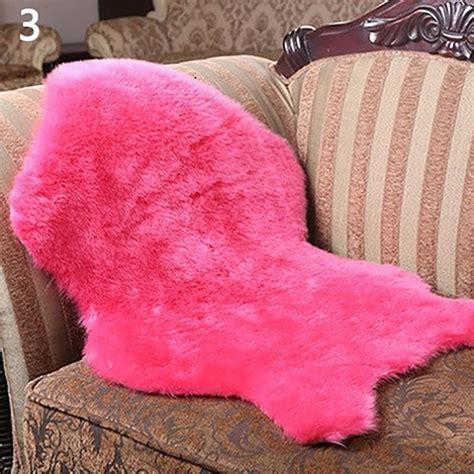soft faux fur fluffy rug mat sofa floor home bedroom