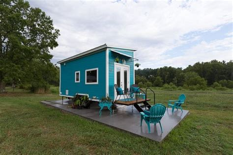 Floating Cabins In Tennessee by Nixie Tiny House Has Floating Washer Dryer In Bathroom