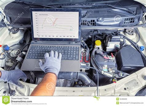 Auto Computer by Diagnostic Car Computer Stock Image Image Of Laptop