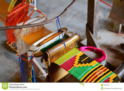 Kente Cloth Weaving Royalty Free Stock Photography   Image