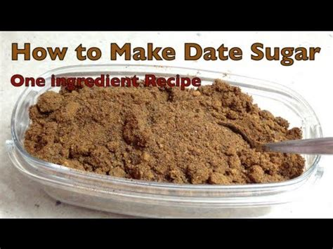 how to make date sugar thermochef recipe cheekyricho youtube
