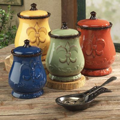 fleur de lis kitchen canisters 4 piece fleur de lis canister set from seventh avenue