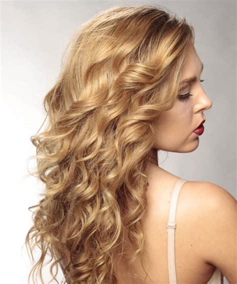 side views layered hair cuts long layered wavy hairstyles side view