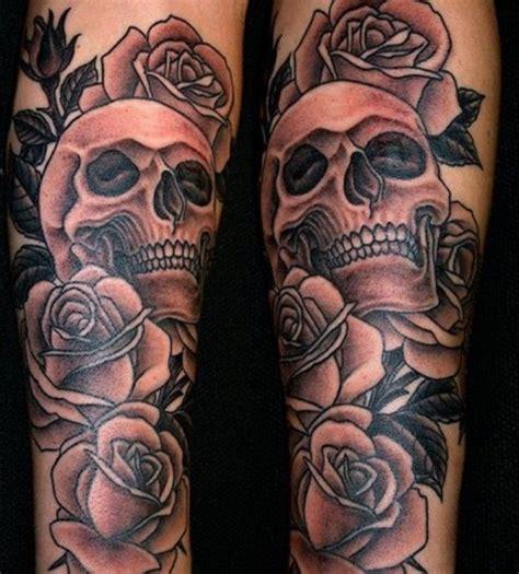 skull roses sleeve tattoo designs 35 amazing skull tattoos for and tattooton