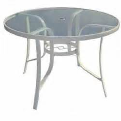 Glass Top Patio Table Glass Top Patio Table Outdoor Metal Furniture Outside Dining Yard White Ebay