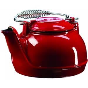 Cast Iron Patio Set Lodge 2 Quart Color Enamel Tea Kettle Red Ectkr