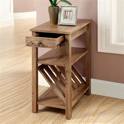 End Tables With Drawers And Magazine Rack by Cortz Side Table Snack Tea Stand W Book Magazine Rack