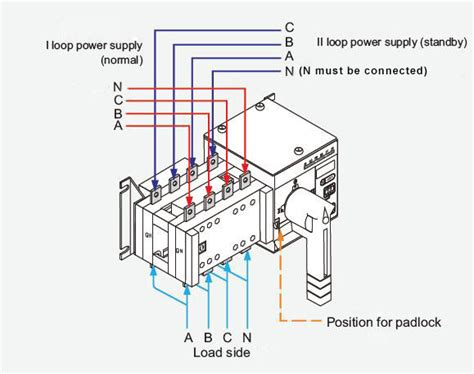 amp manual transfer switch wiring diagram wiring