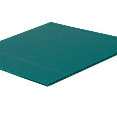 48 in x 96 in x 0 157 in green corrugated plastic sheet