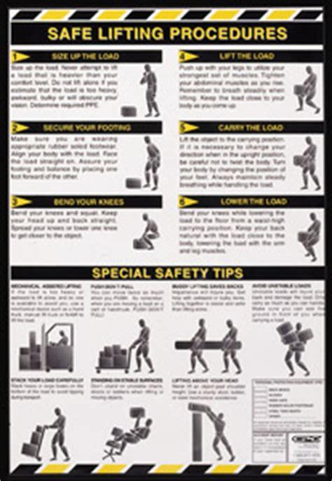 printable safe lifting poster osha
